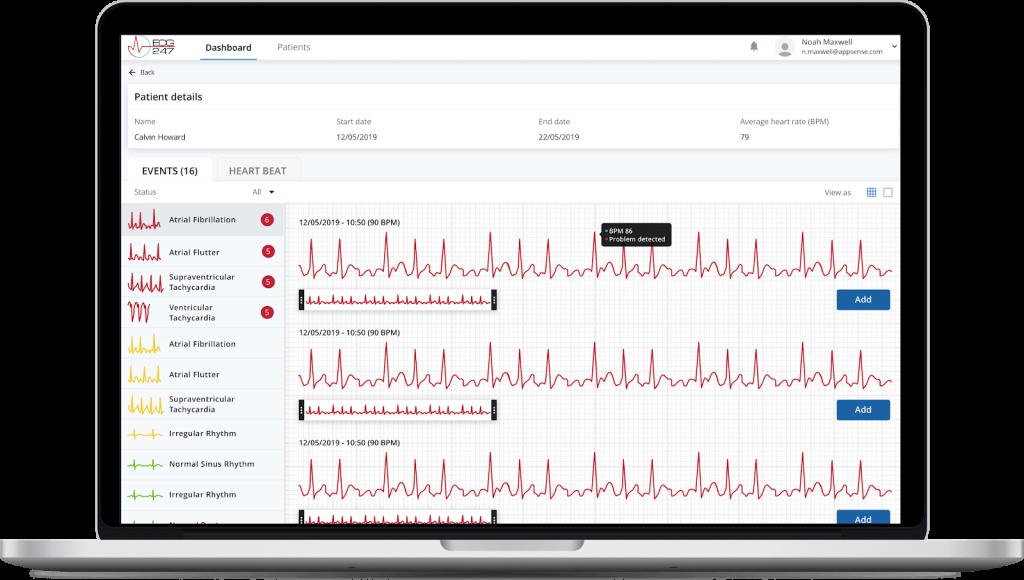 appsens pc web app doctor portal case study - Apphuset and Seven Peaks Software