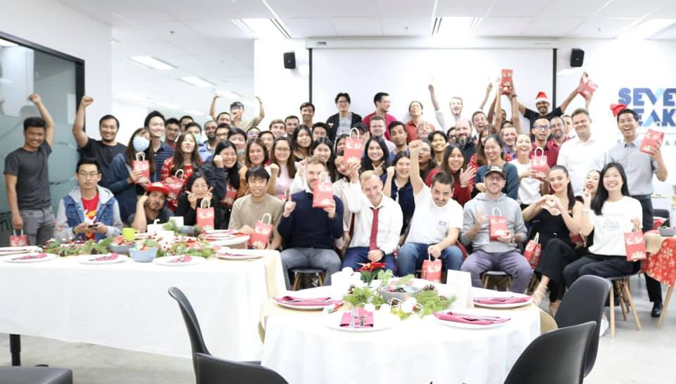 Christmas party at Seven Peaks Software, Careers, benefits, and life at Seven Peaks Software in Bangkok Thailand