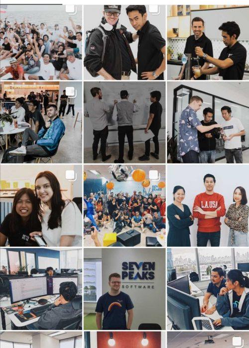 Seven Peaks Software Instagram page - Social media marketing