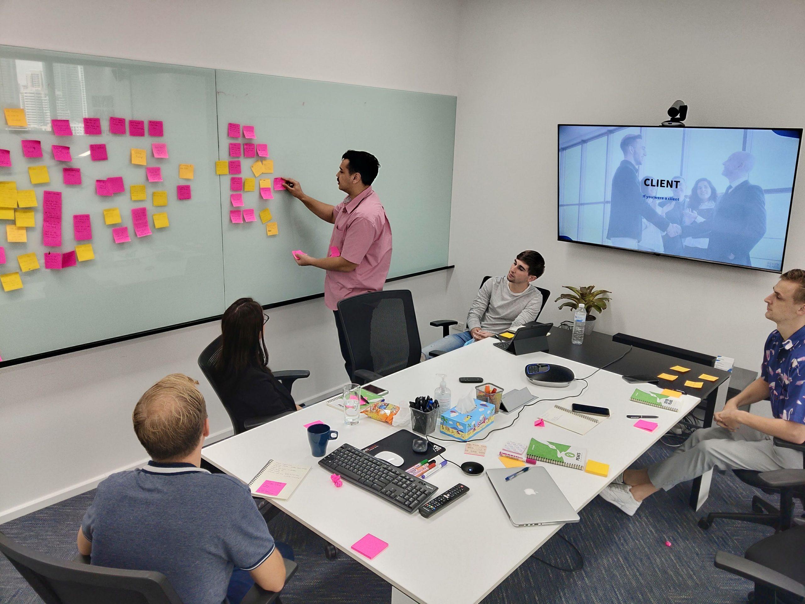 Internship Digital marketing - Brainstorming with the marketing team