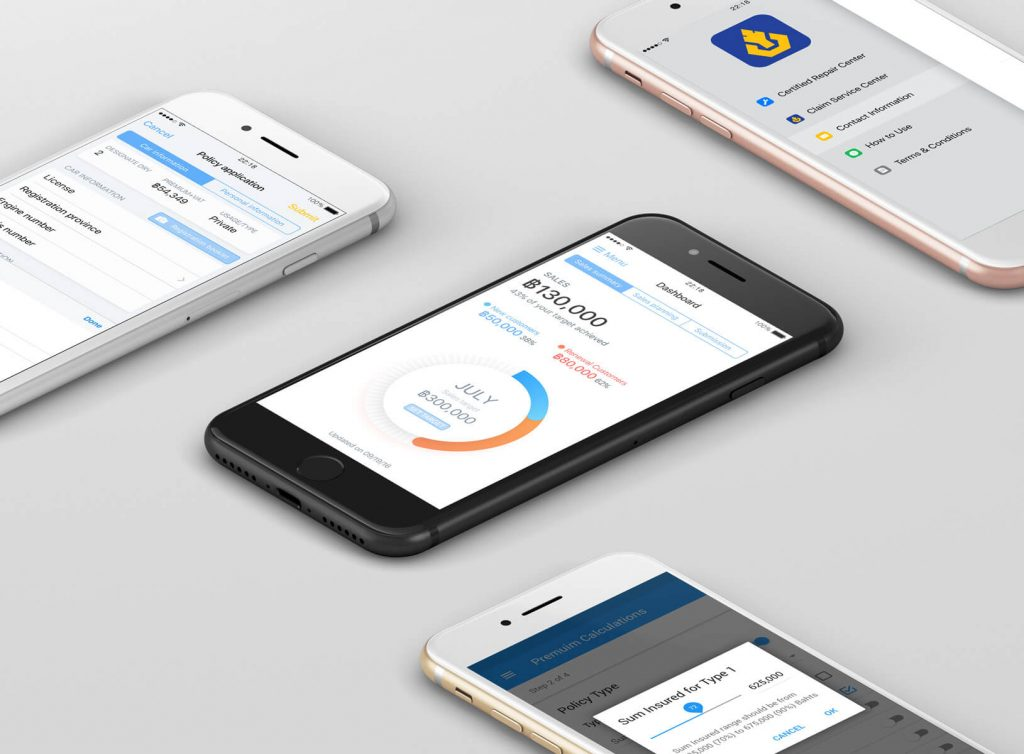Seven Peaks Software insurance app case study project