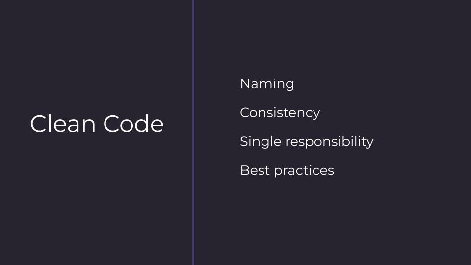 Writing clean React code